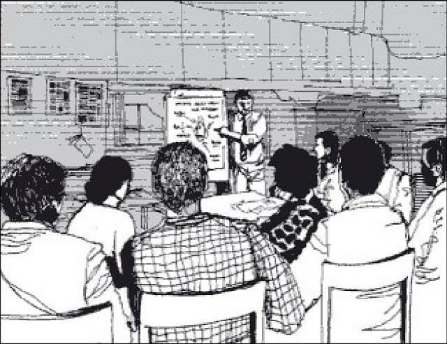 Hình 51. Hội thảo đào tạo tại một trung tâm cộng đồng vềan toàn và sức khỏe trong việc sử dụng hóa chất nông nghiệp