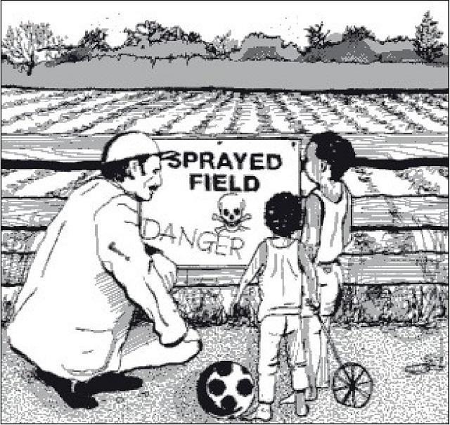 Hình 53. Ngăn trẻ em chơi ở khu vực được điều trị