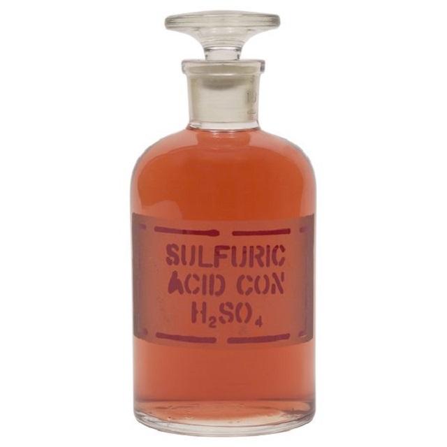 Top 5 Hóa chất công nghiệp được sử dụng nhiều nhất trên toàn cầu (Hình 1): Axit sunfuric (H2SO4)