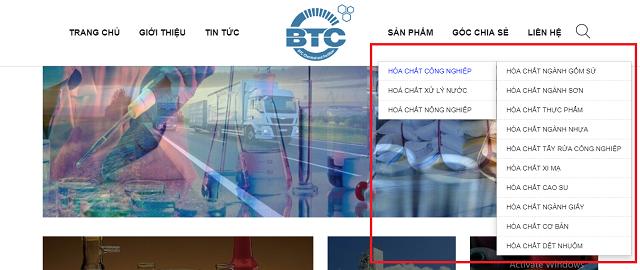 Hướng dẫn mua hóa chất trên website Hóa chất phân bón BTC (hoachatnhapkhauvn.com) Hình 2