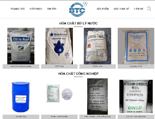 Hướng dẫn mua hóa chất trên website Hóa chất phân bón BTC (hoachatnhapkhauvn.com) Hình 5