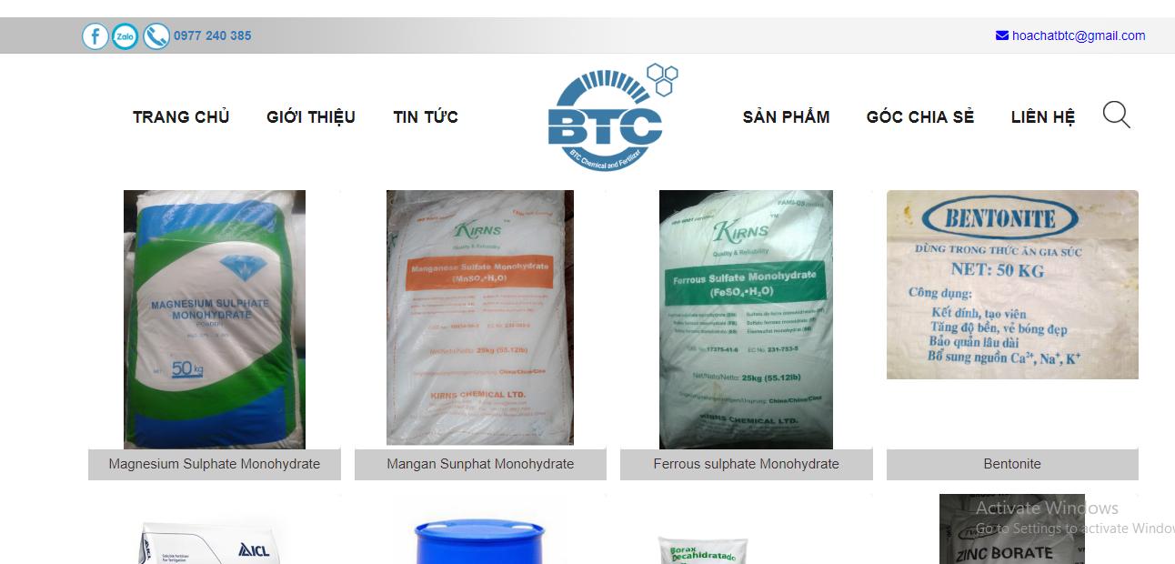 Hướng dẫn mua hóa chất trên website Hóa chất phân bón BTC (hoachatnhapkhauvn.com) Hình 3