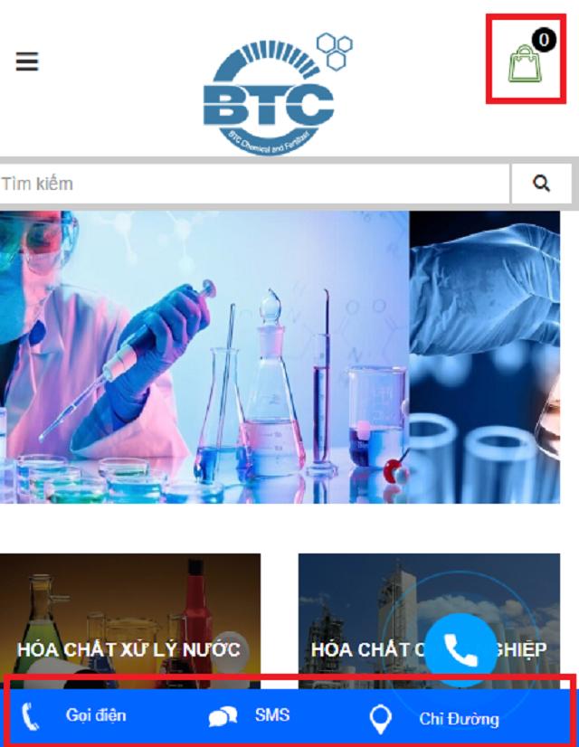 Mua hóa chất tại website hoachatnhapkhauvn bằng điện thoại di động